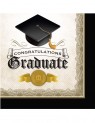 16 tovaglioli di carta per la laurea