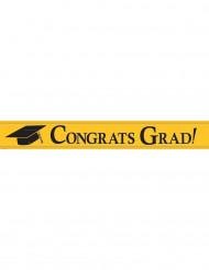 Banner metallico giallo Congrats Grad