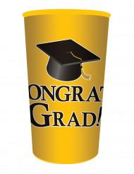 Bicchere di plastica giallo Congrats Grad