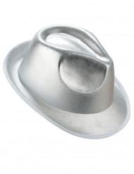 Cappello stile borsalino color argento adulto