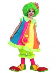 Travestimento da clown fluo per bambina