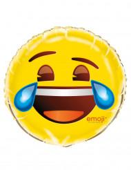Palloncino di alluminio emoticon che ride con lacrime