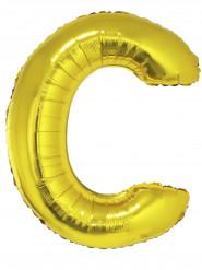 Palloncino gigante lettera C dorata