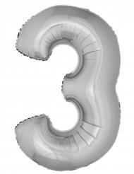 Palloncino alluminio gigante 3 argentato