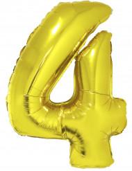 Palloncino alluminio gigante 4 dorato