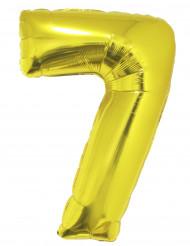 Palloncino alluminio gigante 7 dorato
