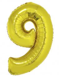 Palloncino alluminio gigante 9 dorato