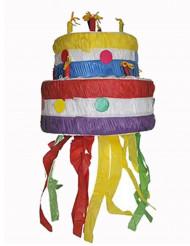 Pignatta a forma di torta di compleanno