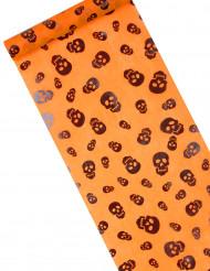 Runner da tavola arancione con teschi