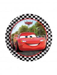8 piattini di carta Cars Formula™19 cm