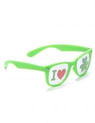 Occhiali verdi San Patrizio per adulti