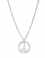 Collana argentata hippie per adulto
