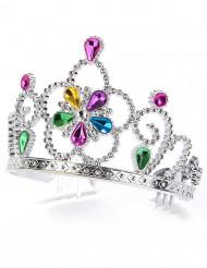 Diadema da principessa con gemme multicolor per adulto