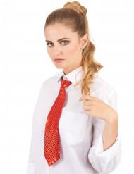 Cravatta rossa con paillettes
