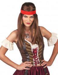 Parrucca pirata o hippie con fascia