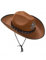 Cappello sceriffo marrone per adulti
