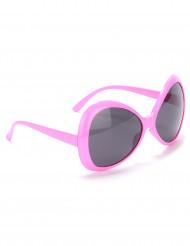 Occhiali disco per adulto rosa