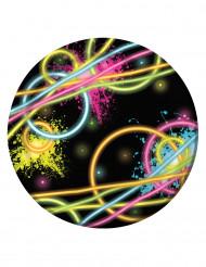 8 piatti piccoli Fluo Party 17.5 cm