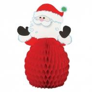 4 piccole decorazioni da tavolo Babbo Natale 15 cm