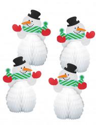 5 centrotavola mini Pupazzo di Neve da 15 cm