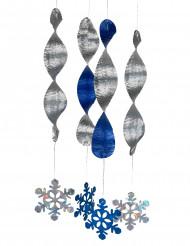 4 sospensioni a spirale con fiocchi di neve