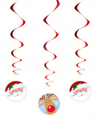 3 sospensioni a spirale natalizie