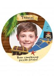 Disco di zucchero personalizzabile piccolo pirata