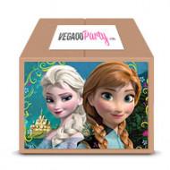 Kit di compleanno Super Frozen™ rosa 16 bambini