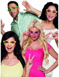 4 occhiali fluo per adulti