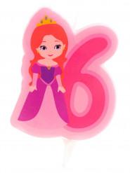 Candelina di compleanno principessa numero 6