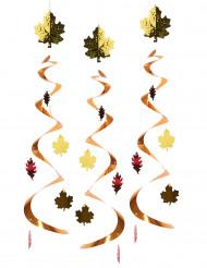 3 sospensioni con foglie autunnali
