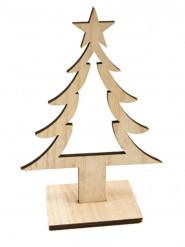 Decorazione albero in legno
