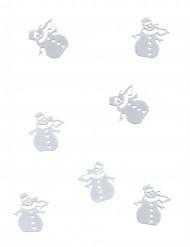 Coriandoli da tavola pupazzi di neve