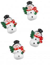 6 Pupazzi di neve adesivi da 3 centimetri