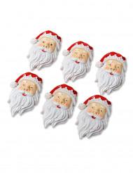 6 mini Babbo Natale in resina da 4 cm