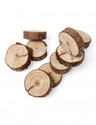 10 rondelle in legno naturale