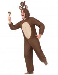 Costume renna con cappuccio per adulto