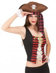 Manicotti e corsetto pirata donna