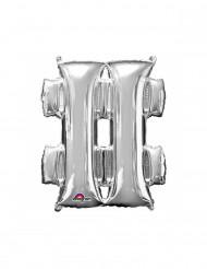 Palloncino alluminio simbolo # argentato