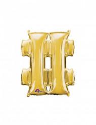 Palloncino alluminio simbolo # dorato
