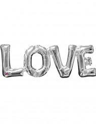 Palloncino alluminio LOVE argentato