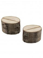 2 segnaposto rondelle di legno
