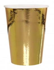 10 bicchieri di carta metallizzati color oro 25 cl