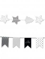 2 ghirlanda nere e bianche con bandierine e stelle