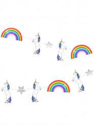 Ghirlanda con unicorni 3 m