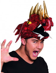 Cappello drago cinese rosso per adulto