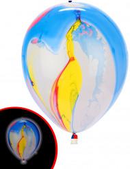5 palloncini a LED multicolor Illooms™ effetto marmorizzato