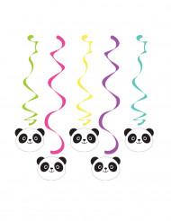 5 sospensioni a spirale Panda Party