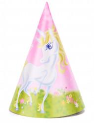 6 cappellini tema unicorno