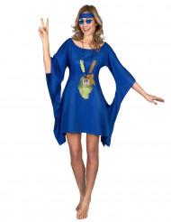 Costume blu stile hippie donna